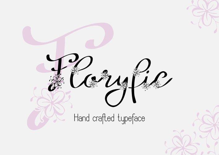 Floryfic font example image 1