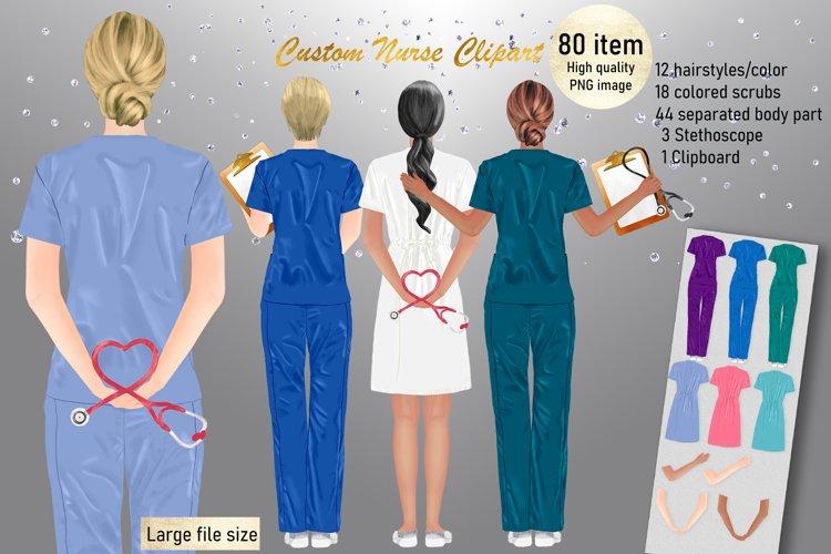Custom Medical Nurse PNG, Doctor Clipart, Nurse Portrait example image 1