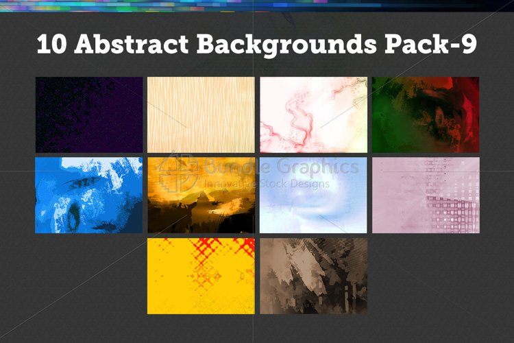 10 Abstract Backgrounds – Pack-9 example image 1