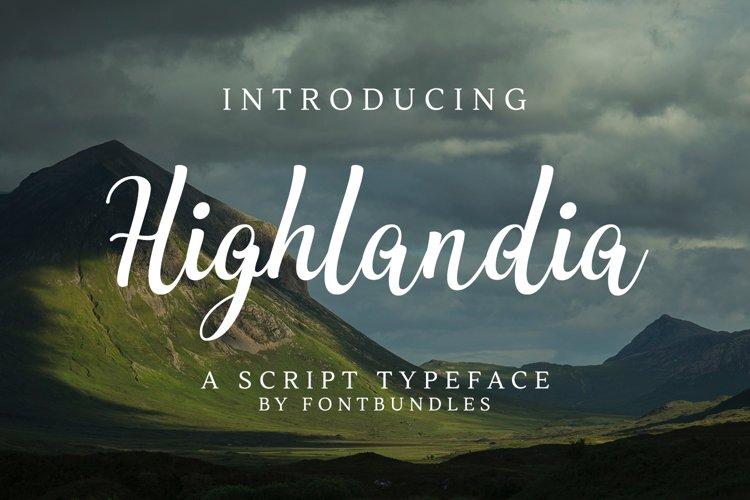 Web Font Highlandia example image 1