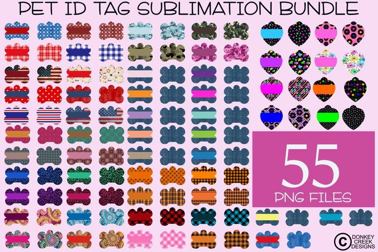 Sublimation Bundle Pet ID Tag Template Designs Dog & Cat Tag