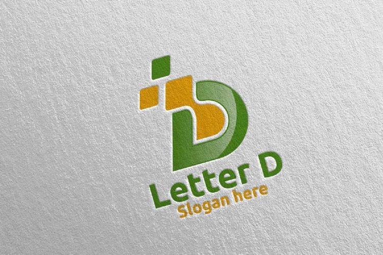 Digital Letter D Logo Design 2 example image 1