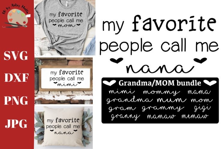 Mom svg bundle. Grandma svg bundle, mom / grandma shirt svg example image 1