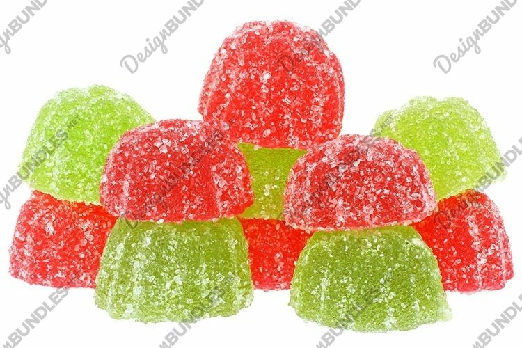 Stock Photo - Group multicolored candy isolated
