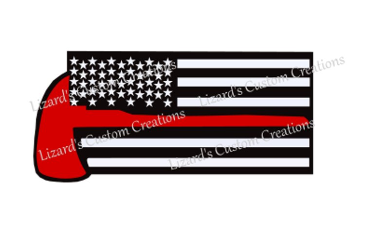 Firefighter Flag with Axe Includes Distressed Flags example image 1
