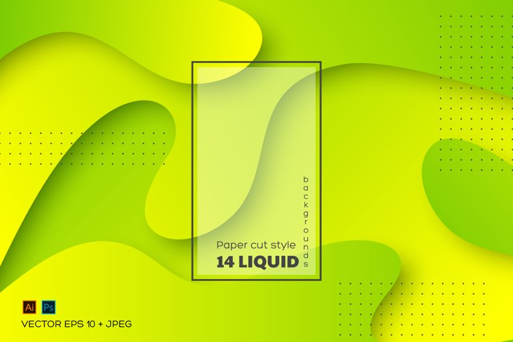 Set of abstract liquid backgrounds.