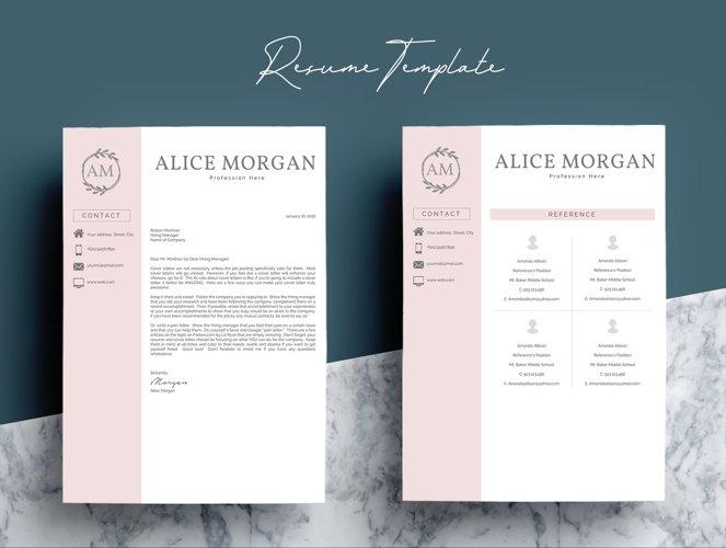 Professional Creative Resume Template - Alice Morgan - Free Design of The Week Design5