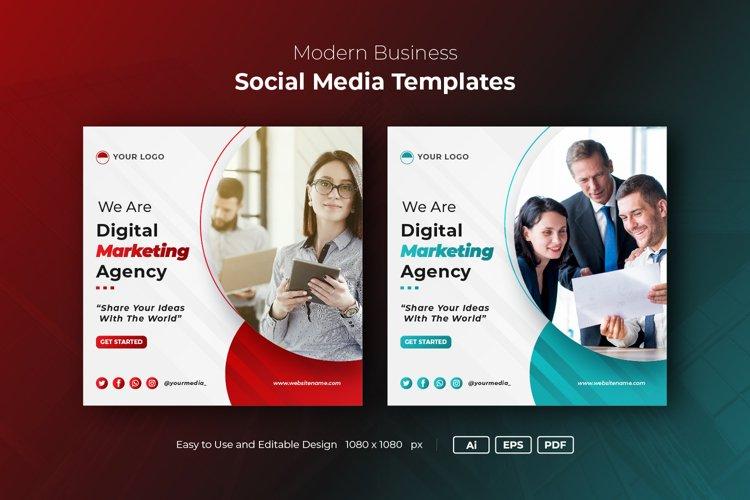 Instagram Post Banner, Business Social Media Banner template