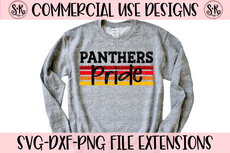 Panthers Pride SVG DXF PNG example image 1