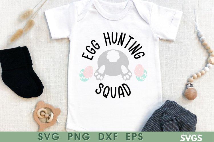 Egg Hunt SVG | Kids Easter Top Cut File | Egg Hunting Squad
