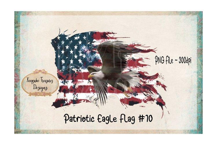 Patriotic Eagle Flag, Watercolor Design example image 1