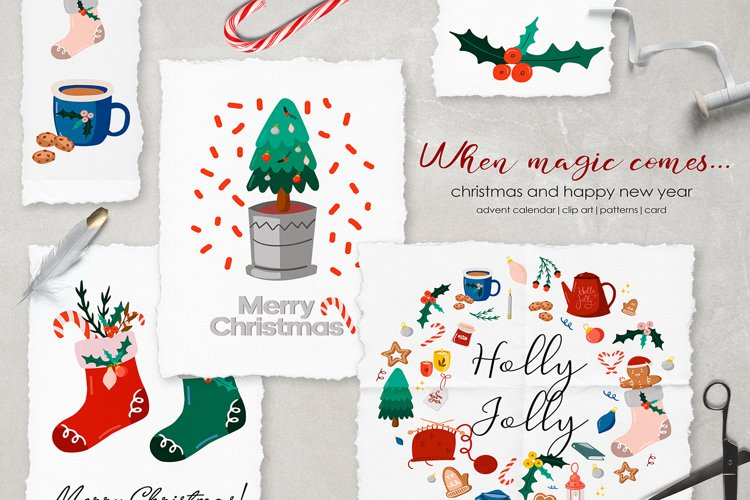 When magic comes.. Christmas clipart example image 1