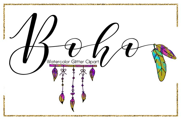 Boho Brush Strokes-digital clipart-indian clipart-Circle-arrow clipart-Planner clipart-Glitter clipart-feather clipart-Blue Clipart-Pink Clipart example image 1