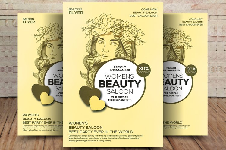 Modern Beauty Salon - Flyer Template example image 1