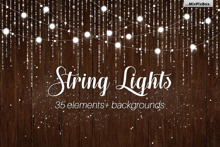 String Lights v3 clipartbackgrounds example image 1