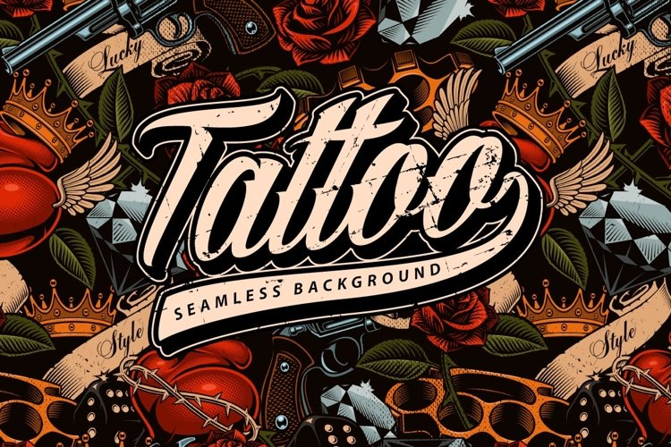 Tattoo seamless background example image 1
