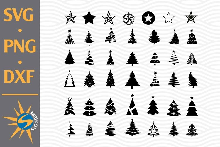 Christmas Tree SVG, PNG, DXF Digital Files Include example image 1