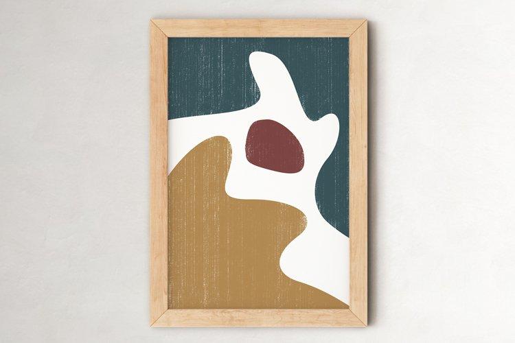 Abstract Shapes Print, Boho Decor, Mid Century Modern Art example image 1
