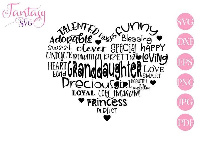 Granddaughter Word Art - Svg Cut Files example image 1