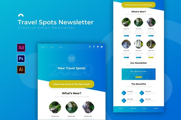Travel Spots | Email Newsletter Template example image 1