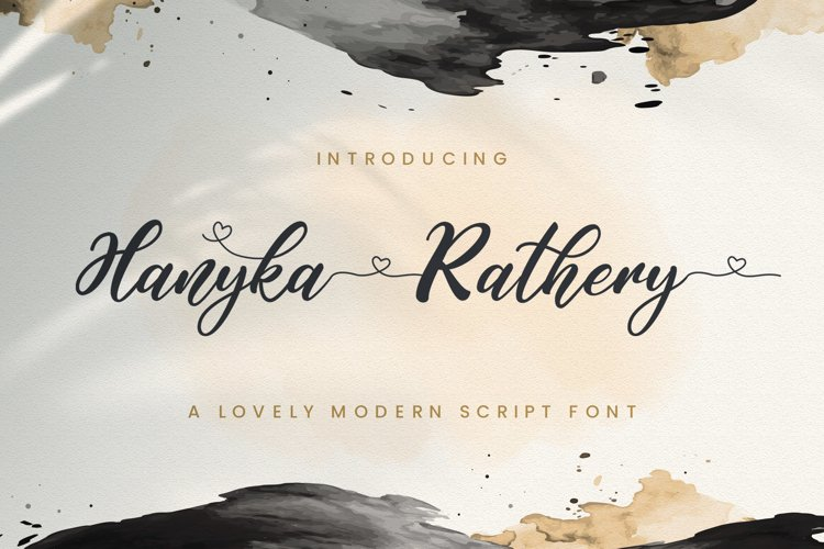 Hanyka Rathery - Lovely Script Font example image 1