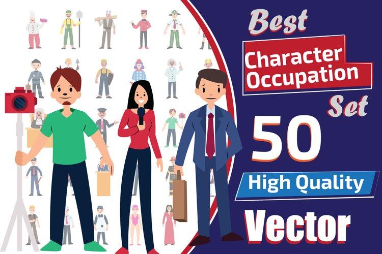 50X Character Occupations Set Illustrations