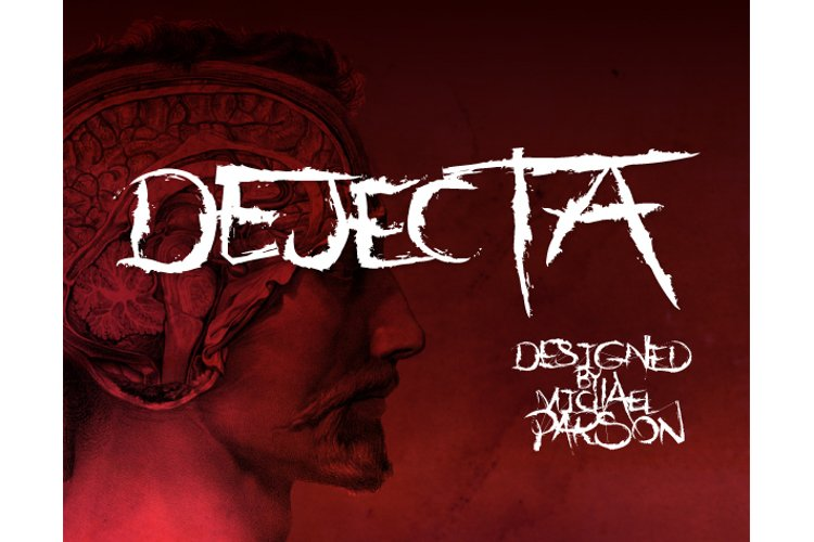 Dejecta typeface cover page