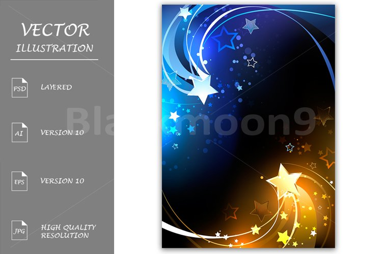 Design with Contrasting Stars example image 1
