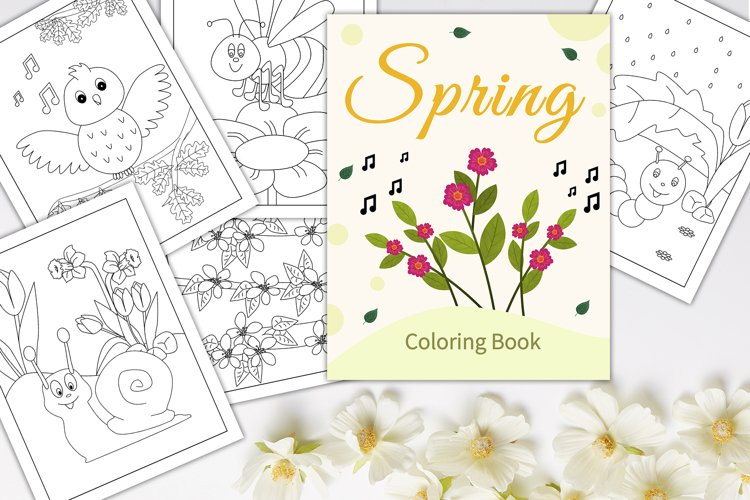 Spring - Coloring book/pages