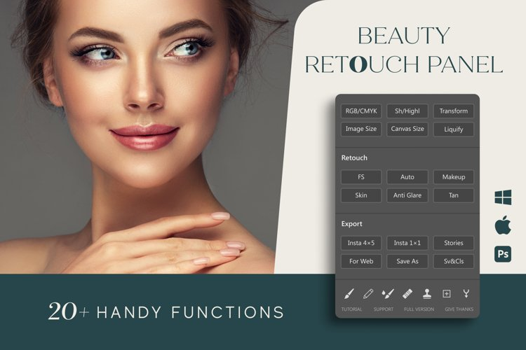 Beauty Retouch Panel for Photoshop