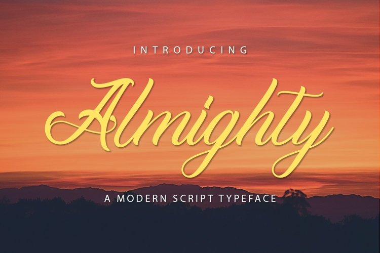 Web Font Almighty example image 1