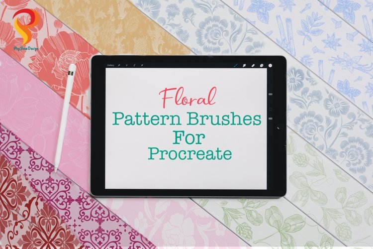 Floral Pattern Brushes Procreate example image 1