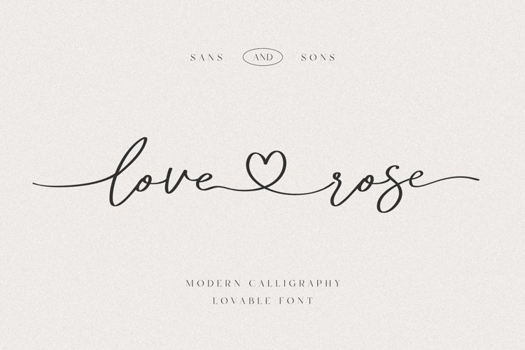 Love Rose - Lovely Font