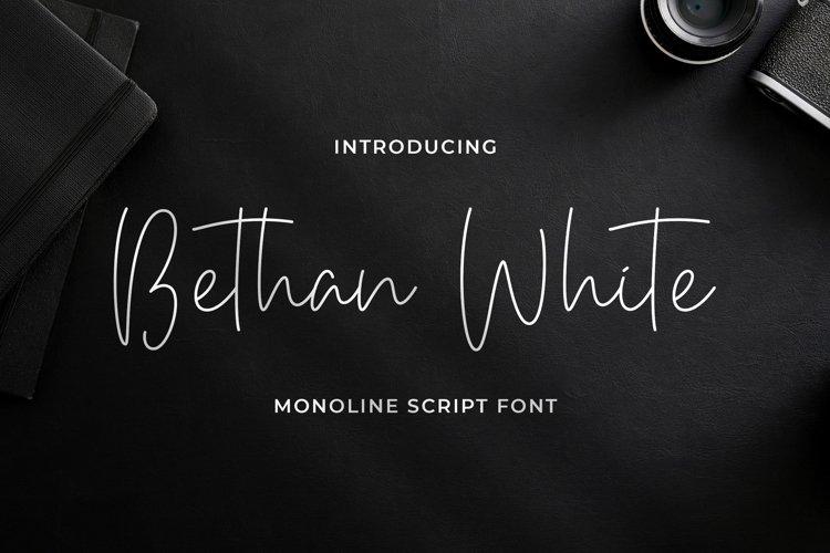 Bethan White - Monoline Script Font example image 1
