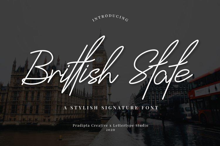 Brittish State Script example image 1