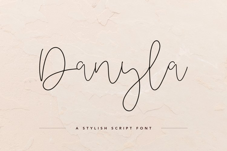 Danyla Stylish Signature Font example image 1