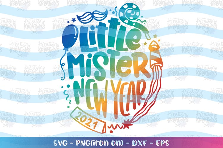 Christmas svg Little Mister New Year baby kids example image 1