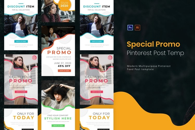 Special Promo | Pinterest Post Template example image 1