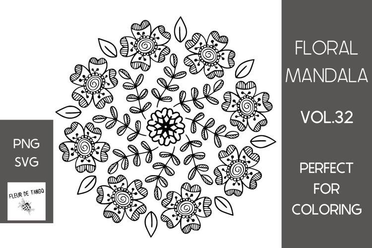 Floral mandala vol.32