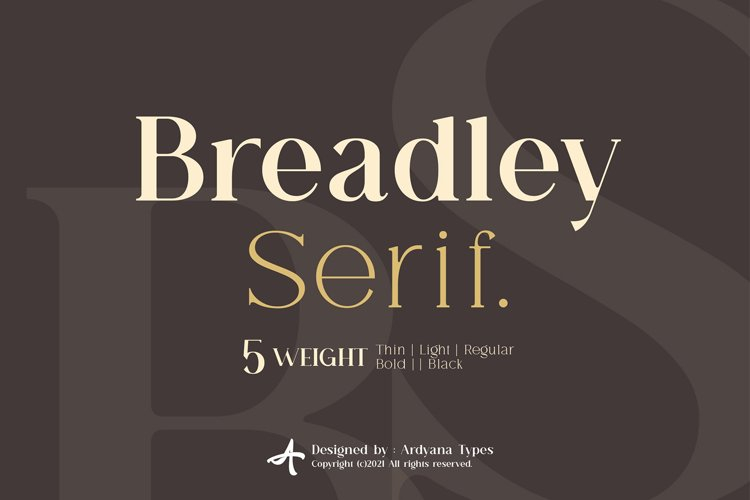 Breadley Serif example image 1