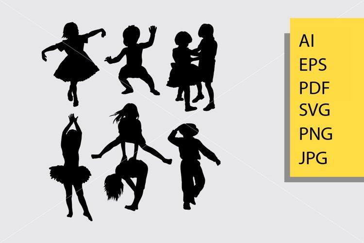 Kids 3 silhouette example image 1