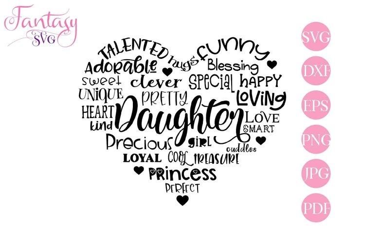 Daughter Word Art - Svg Cut Files example image 1