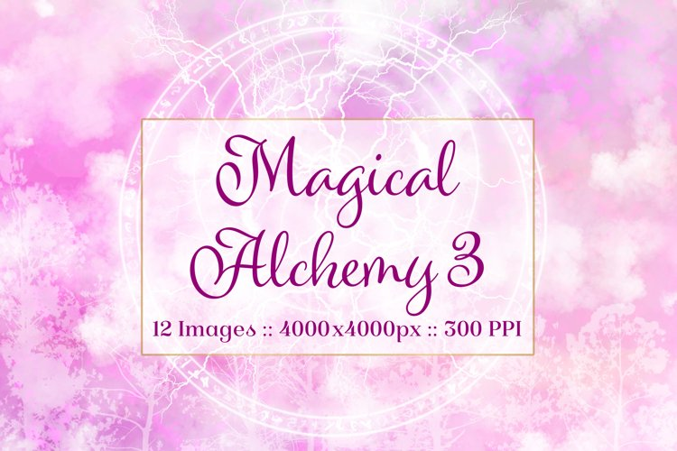 Magical Alchemy 3 - Background Images Textures Set example image 1
