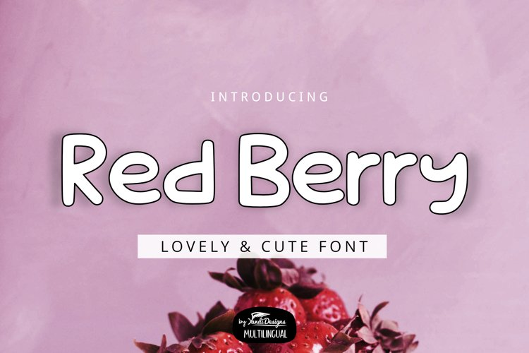 Red Berry Font example image 1