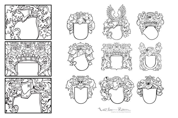 Set of Aristocratic Emblems Vol. V example image 1