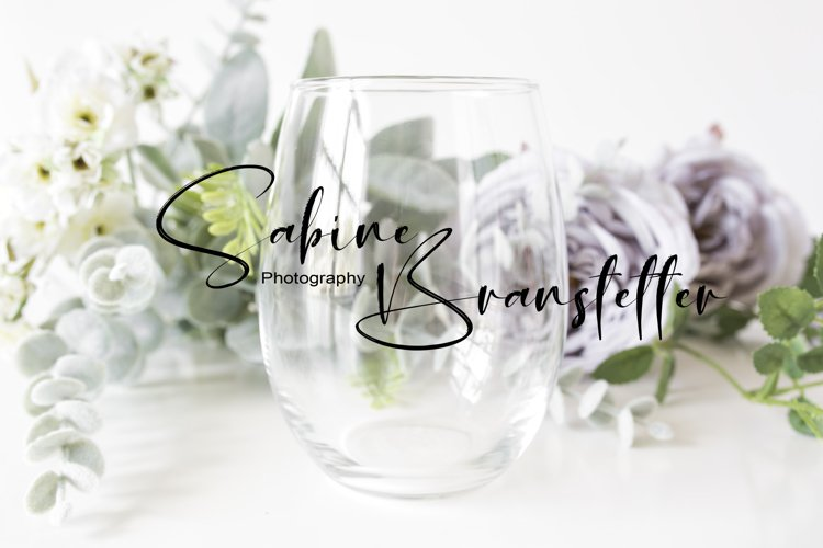 Styled Stock Photography Stemless Wine Glass Mockup