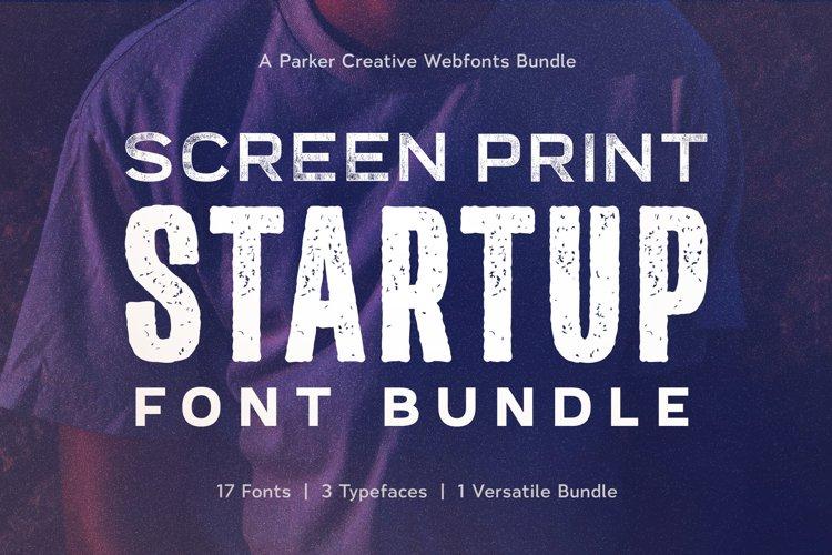 Screen Print Startup Webfonts Bundle example image 1