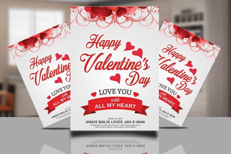 Happy Valentines Flyer example image 1