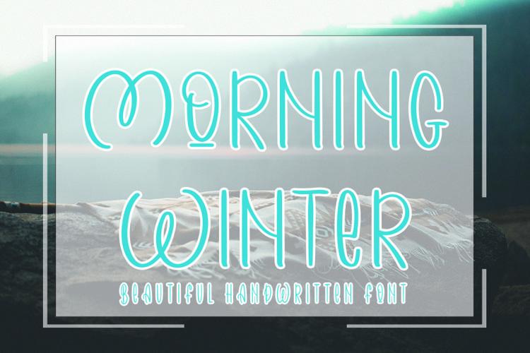 Morning Winter - Beautiful Handwritten Font example image 1