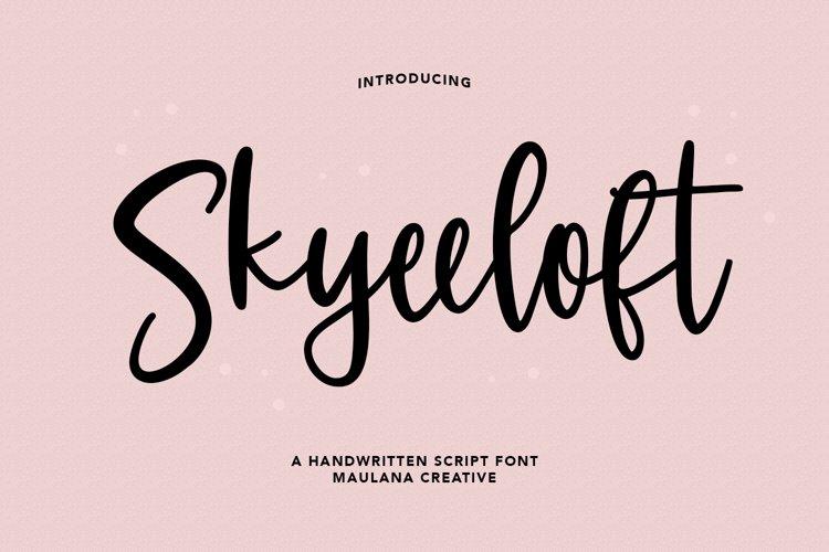 Skyeeloft Handwritten Script Font example image 1